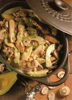 Chicken and Avocado Casserole recipe with separate directions for convection microwave ovens