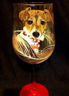 DOG WINE GLASS – www.thepaintedflower