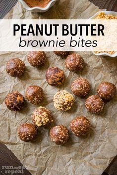 These healthy peanut butter brownie bites are just 6 ingredients— dates, almonds, cocoa powder, peanut butter, honey, and salt. Toss it in a blender then roll into balls. Peanut Butter Brownies, Healthy Peanut Butter, Cashew Butter, Creamy Peanut Butter, Brownie Bites, Chocolate Flavors, Almonds, Recipe Ideas, Repeat