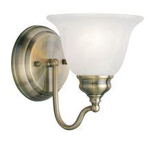 Livex Lighting 1351-01 Essex Bath Light in Antique Brass