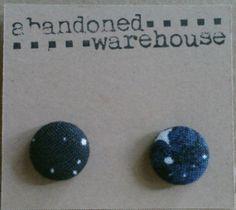 SPACE blue asymmetrical post earrings by AbandonedWarehouse Star Trek, Space, Earrings, Blue, Etsy, Display, Ear Rings, Beaded Earrings Native, Hoop Earrings