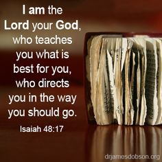 """Isaiah I love to see """"worn"""" bibles.it makes me think how blessed is the one """"feeding"""" from it : ) Favorite Bible Verses, Bible Verses Quotes, Bible Scriptures, Faith Quotes, Godly Quotes, Biblical Verses, Bible Prayers, Qoutes, Isaiah 48 17"""