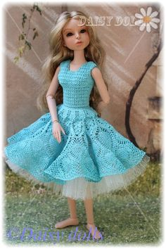 Handmade clothes for dolls: Pattern for dolls - crocheting