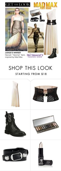 """Get the Look: Her Universe Fashion Show, Judge's Winner"" by polyvore-editorial ❤ liked on Polyvore featuring BCBGMAXAZRIA, Giuseppe Zanotti, Urban Decay, Balenciaga, Manic Panic NYC, comiccon, HerUniverse and SDCC"