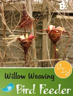 Willow Weaving tutorial for an easy Bird Feeder DIY. Winter has nearly arrived and we have started to place our Birdfeeders outside. It's always so lovely