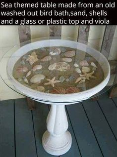 Love this idea... I never know what to do with the sea shells I found this is great❤️