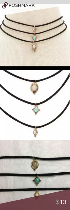 Mai Choker Set ♡ Set of 3 choker set  ♡ Chokers do not come attached all together, you are able to change the order of chokers  ♡ Has an extension chain to accommodate to neck ♡ PRICE IS FIRM. ALL LOWER OFFERS WILL BE DENIED.  ♡ Selling it for cheaper ($10) on my boutique website which is www.angeliteboutique.storenvy.com Jewelry Necklaces