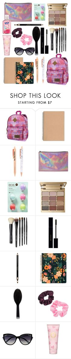 """""""My Bag Must Have...."""" by monarch-butterfly ❤ liked on Polyvore featuring Dickies, Forever 21, Eos, Stila, Bobbi Brown Cosmetics, Gucci, Clarins, GHD, Mudd and La Perla"""