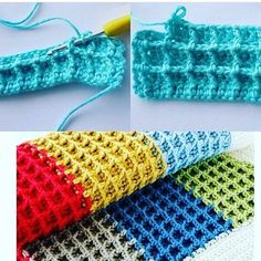 689 Likes, 20 Comments - Crochet Afgans, Free Crochet, Knit Crochet, Afghan Crochet Patterns, Crochet Stitches, Knitting Patterns, Crochet Waffle Stitch, Crochet Videos, Crochet For Beginners