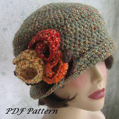 Crochet Pattern Womens Flapper Hat Dowton Abbey by kalliedesigns, $5.99