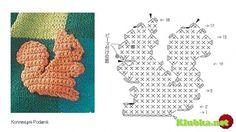 """Képtalálat a következőre: """"crochet squirrel"""" Filet Crochet, Crochet Amigurumi, Freeform Crochet, Crochet Chart, Crochet Motif, Crochet Flowers, Crochet Toys, Crochet Stitches, Knit Crochet"""