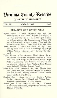 Virginia county records