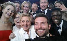The most awesome selfie ever taken and I watched it being taken!!! # oscars 2014