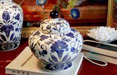 Deko-Behälter mit Deckel aus Keramik 26 x 20 cm