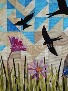Welcome Swallow Quilt by Charlotte Scott (New Zealand)