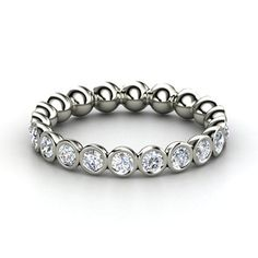 Platinum Ring with Diamond | Pod Eternity Band | Gemvara