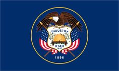 The Utah State Flag has a blue background with the State Seal inscribed in the center and is easily distinguished from other state flags. Description from ereferencedesk.com. I searched for this on bing.com/images