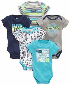 Calvin Klein Baby Boys' 5-Pack Bodysuits