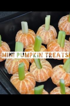 creative mini healthy pumpkin treats for kids birthday party (by bewellwitharielle.com)