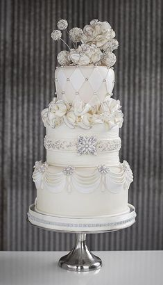 Jeweled Wedding Cake - Wedding Cake Decorating Lesson Online