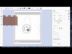 brother scan n cut tutorials creating a screen card using basic shapes - YouTube