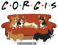 Corgi friends are the best friends. Get your shirt today!