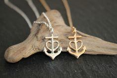 Ketten mittellang - Glaube Liebe Hoffnung gold silber Halskette Kette - ein Designerstück von Aurora-Design bei DaWanda