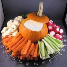 Pumpkin is perfect dish for dip on a  veggie tray for Fall parties or even Thanksgiving.