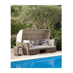 Oyster Bay Sunbed Set with Canopy