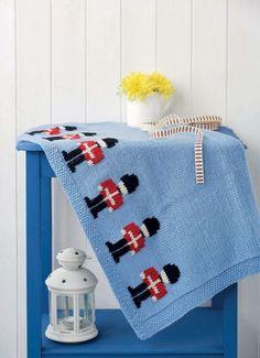 FREE KNITTING PATTERN: Little soldier blanket
