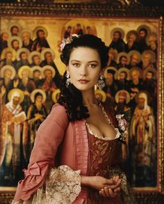 "Catherine Zeta Jones in ""Catherine the Great,"" Costume design by Barbara Baum. Catherine Zeta Jones, Swansea, Sophia Coppola, Catherine The Great, Historical Costume, Marie Antoinette, Costume Design, Divas, Beautiful People"