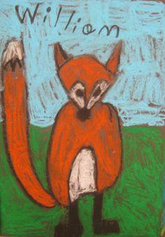 kindergarten how to draw a fox