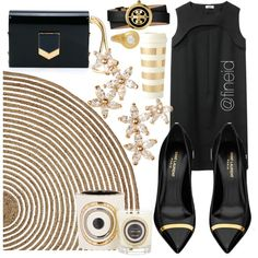 Elegant outfit by fineid on Polyvore featuring moda, A Détacher, Yves Saint Laurent, Jimmy Choo, Bonheur, Tory Burch, Linda Lee Johnson, Serena & Lily, Emaux de Longwy and Kate Spade Elegant Outfit, Jimmy Choo, Yves Saint Laurent, Tory Burch, Kate Spade, Lily, Shoe Bag, Polyvore, Stuff To Buy
