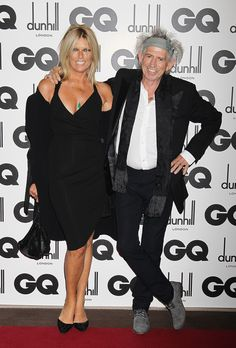 Keith Richards Patti Hansen Photos - Rolling Stone Keith Richards and wife Patti Hansen attend the GQ Men Of The Year Awards at The Royal Opera House on September 2011 in London, England. - GQ Men Of The Year Awards Alexandra Richards, Patti Hansen, Ron Woods, Ronnie Wood, Charlie Watts, Gq Men, Blues Rock, Keith Richards, Music Photo
