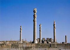 30. Audience Hall (apadana) of Darius and Xerxes. Persepolis, Iran. Persian. c. 520-465 B.C.E. Limestone.