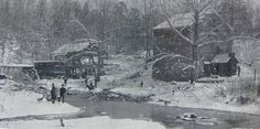 Andrews grist mill Rutherford county NC circa 1900