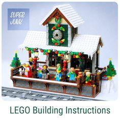 4 years of Lego Winter Village Displays – Melissa's Lego Lego Christmas Village, Lego Winter Village, Lego Village, Lego Sets, Lego Train Station, Casa Lego, Lego Advent, Lego Minifigure Display, Lego Bedroom