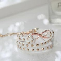 Infinity Studded Faux-Suede Bracelet from #YesStyle <3 Cuteberry YesStyle.com