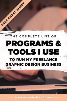 The Complete List of Programs & Tools I use to run my Freelance Graphic Design Business — Mariah Althoff, Visual Branding Expert + Graphic Designer Graphic Design Tools, Freelance Graphic Design, Tool Design, Graphic Design Inspiration, Freelance Designer, Graphic Design Programs, Graphic Designers, Design Websites, Web Design Tips