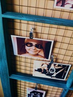 window photo frame with wire mesh & name badge clips