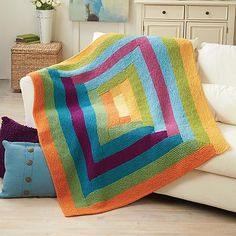 Pippin Throw By Rae Blackledge - Free Knitted Pattern - (ravelry)