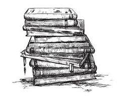 Bücherstapel clipart schwarz weiß  Bildergebnis für bücher gezeichnet   Brainstorm   Pinterest