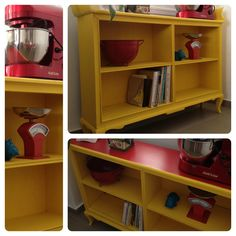Yellow Show And Tell, Shoe Rack, My Design, Bookcase, Sweet Home, Shelves, Yellow, Home Decor, Shelving