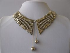 An Art Deco Machine Age necklace by Jakob Bengel during the 1930's.