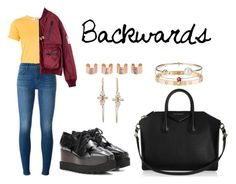 """""""Backwards"""" by anaelle2 ❤ liked on Polyvore featuring Play Comme des Garçons, J Brand, STELLA McCARTNEY, Givenchy, Cartier, Christian Dior, Letters By Zoe and Maison Margiela"""