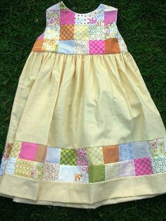 I love this patchwork little girl dress!