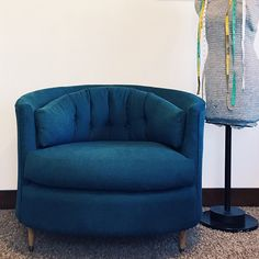 Reupholster tub chair or barrel chair tutorial