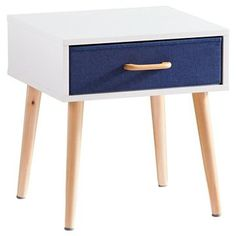 Franklin Storage Cabinet Single Drawer White/Denim Blue - Southern Enterprises