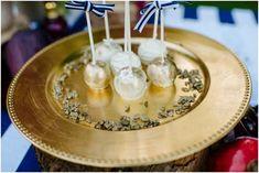 gold navy wedding ideas polka dot