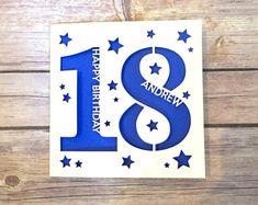Personalised 18th Birthday Card, 18th Daughter, 18th Son, 18th Niece, 18th Nephew, 18th Gift, Eighteenth Card, Happy 18th, Lasercut Card
